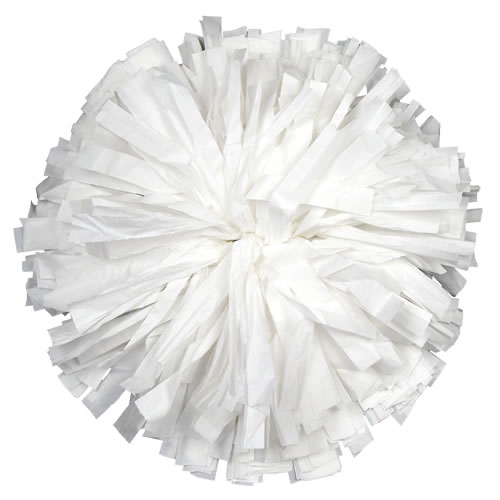 White Plastic pom pom for dance and cheerleading performances