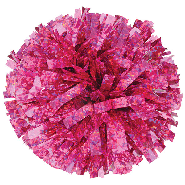 Crystal Pink pom pom for dance and cheerleading