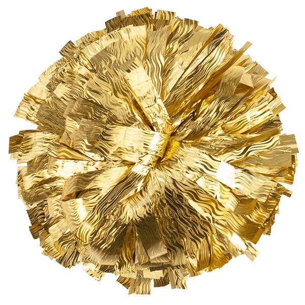 Gold Shimmer Wave Pom Pom for cheerleading and dance