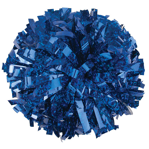 Crystal Blue pom pom for dance and cheerleading