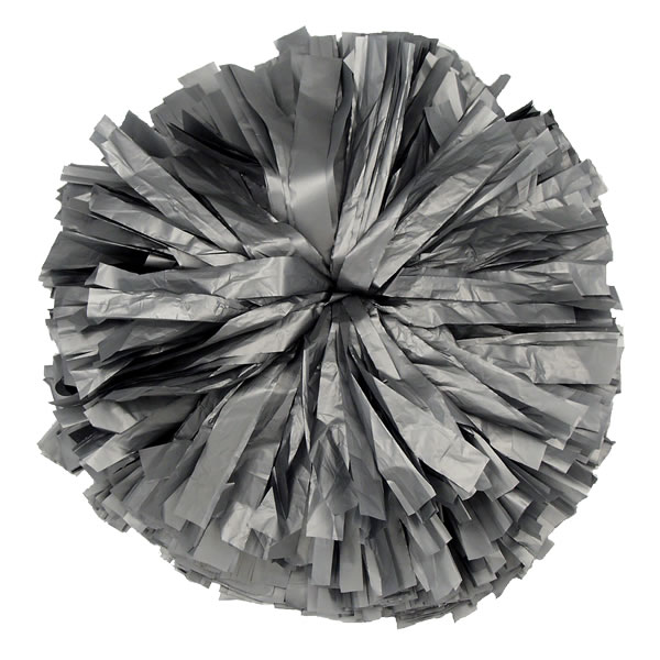 Gray Plastic pom pom for dance and cheerleading performances