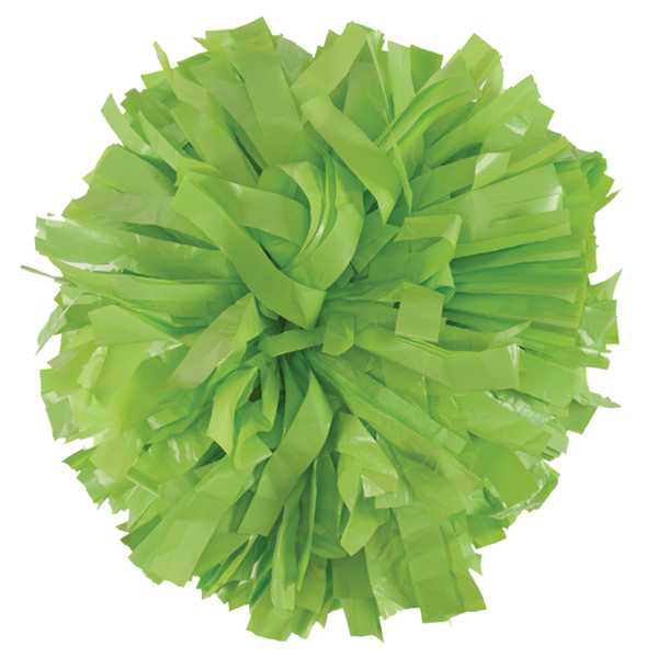 Neon Green Plastic pom pom for cheerleading and dance perfomances