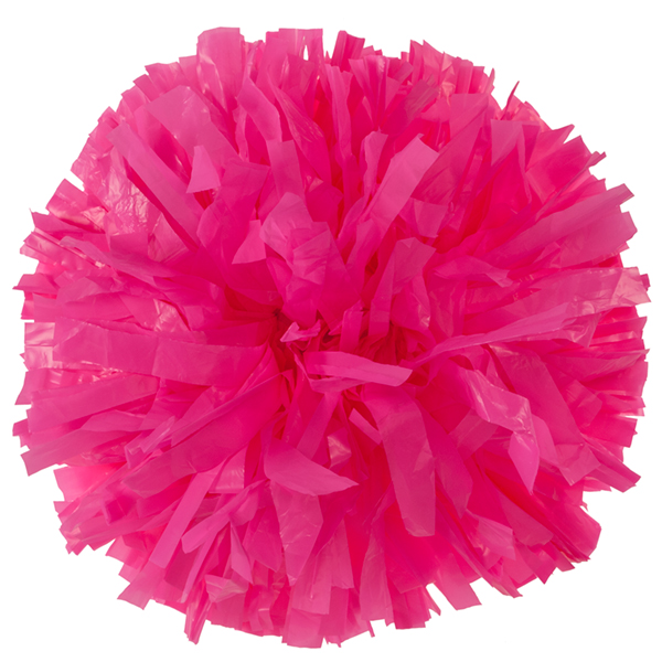 Neon Pink Plastic pom pom for cheerleading and dance perfomances