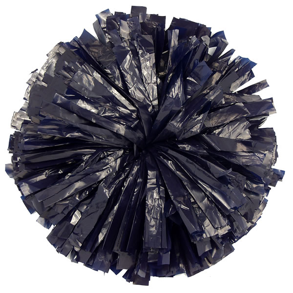 Navy Blue Plastic pom pom for cheerleading and dance perfomances