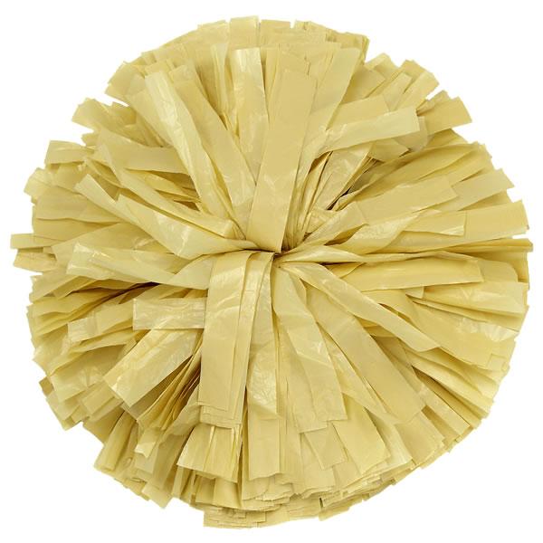Vegas GOld plastic pom pom for dance and cheerleading performances