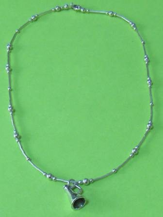 sterling necklace with charm