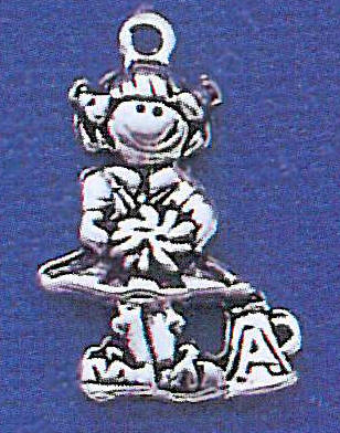 cheerleader girl charm