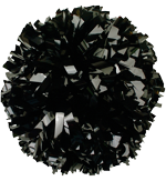 Black Metallic Pom Pom for dance and cheerleading