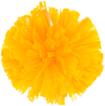 Bright Gold Metallic Pom Pom for dance and cheerleading