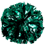 Forest Green Metallic Pom Pom for dance and cheerleading