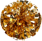 Gold Metallic Pom Pom for dance and cheerleading