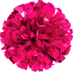 Hot Pink Metallic Pom Pom for dance and cheerleading