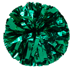 Kelly Green Metallic Pom Pom for dance and cheerleading