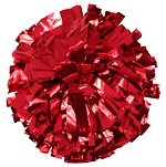 Red Metallic Pom Pom for dance and cheerleading