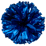 Royal Blue Metallic Pom Pom for dance and cheerleading