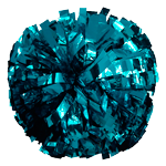 Teal Metallic Pom Pom for dance and cheerleading
