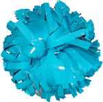 Turquoise Metallic Pom Pom for dance and cheerleading