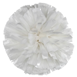 White Metallic Pom Pom for dance and cheerleading