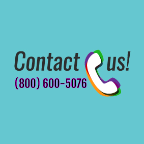 Call us with turquoise background